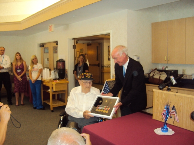 Philip Hopkins, WWII Veteran, Receives Medals in Moving Ceremony
